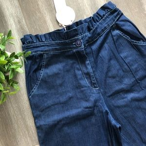 High Waist Denim With Frill And Wrap / Size Medium